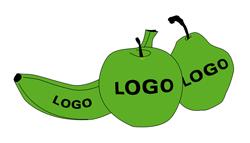 Obst mit Logo - Werk13 Design